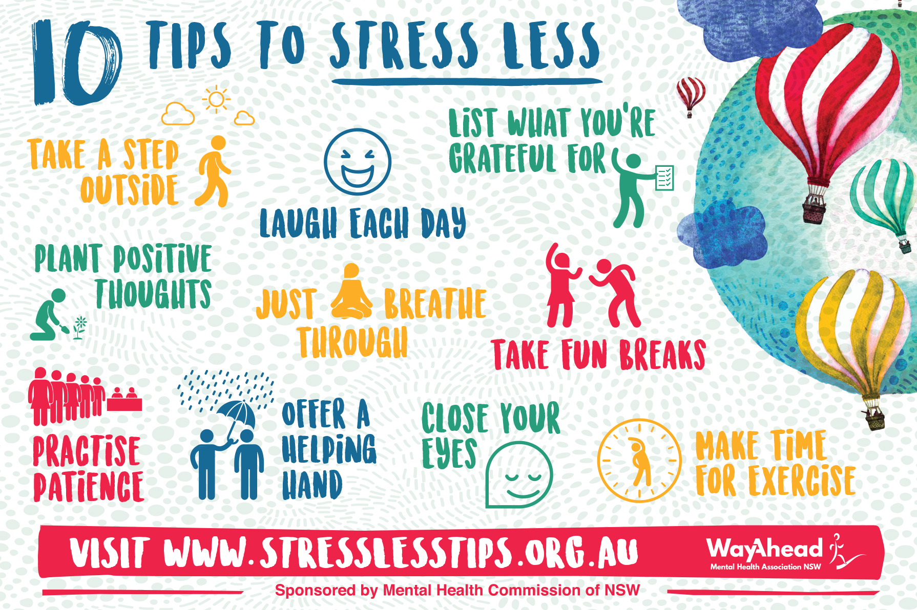 stress less tips Stress less tips 269 likes this campaign aims to provide university students with tips and solutions on how to stress less and encourage them to take.